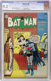 Batman #87 (DC, 1954) CGC NM- 9.2 Cream to off-white pages