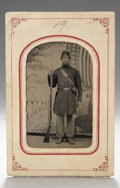 Photography:Tintypes, Sixth Plate Tintype of Armed Federal Recruit...