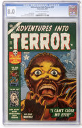 Golden Age (1938-1955):Horror, Adventures Into Terror #22 (Atlas, 1953) CGC VF 8.0 Cream tooff-white pages....