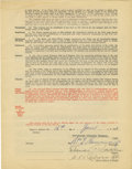 Autographs:Letters, 1942 Eddie Collins Signed R.F. Garrison Contract and Thomas PaddenSigned Contract. Beautifully preserved contract dated Au...