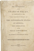 Political:Civil War, Constitution of the State of Texas as Amended in 1861. The Constitution of the Confederate States of America. The Ordinances...