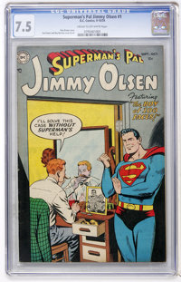 Superman's Pal Jimmy Olsen #1 (DC, 1954) CGC VF- 7.5 Cream to off-white pages
