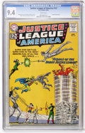Silver Age (1956-1969):Superhero, Justice League of America #13 (DC, 1962) CGC NM 9.4 White pages....