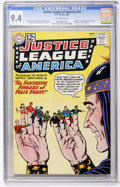 Silver Age (1956-1969):Superhero, Justice League of America #10 (DC, 1962) CGC NM 9.4 Off-white pages....