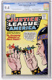 Justice League of America #10 (DC, 1962) CGC NM 9.4 Off-white pages
