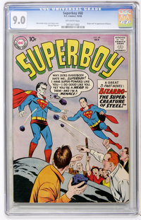 Superboy #68 (DC, 1958) CGC VF/NM 9.0 Off-white pages