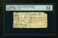 Colonial Notes:North Carolina, North Carolina April 4, 1748 40s PMG Fine 12....