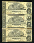 Confederate Notes:1863 Issues, T58 $20 1863. Three Examples. Very Fine or Better.. ... (Total: 3notes)