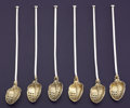 Silver Flatware, American:Gorham, A SET OF SIX AMERICAN SILVER AND SILVER GILT ICE TEA SPOON STRAWS.Gorham Manufacturing Co., Providence, Rhode Island, 1910...