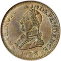 Colonials, 1783 1C Washington & Independence Cent, Large Military BustMS62 Brown PCGS....