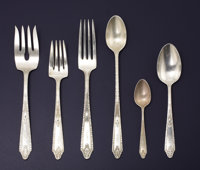 AN AMERICAN SILVER FLATWARE SERVICE Whiting Manufacturing Company and Gorham Manufacturing Co.., Providence, Rhode