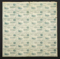 Obsoletes By State:Ohio, Cuyahoga Falls, OH- W.A. Hanford 4X7 10¢ 1862 Uncut Sheet. ...
