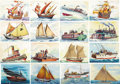 "Miscellaneous Collectibles:General, 1955 Topps Rails & Sails Original Art (23). The Topps ""Railsand Sails"" set presents some of the most attractive gumcards e..."