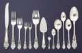 Silver Flatware, American:Wallace , AN AMERICAN SILVER FLATWARE SERVICE. Wallace Silversmiths,Wallingford, Connecticut, circa 1936. Marks: WALLACE,(stag's... (Total: 84 Items)