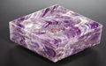 "Lapidary Art:Carvings, AMETHYST ""DIAMOND"" BOX. ..."