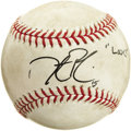 Baseball Collectibles:Balls, 2007 World Series Game One Dustin Pedroia Home Run Baseball. The defining moment of Pedroia's 2007 American League Rookie o...