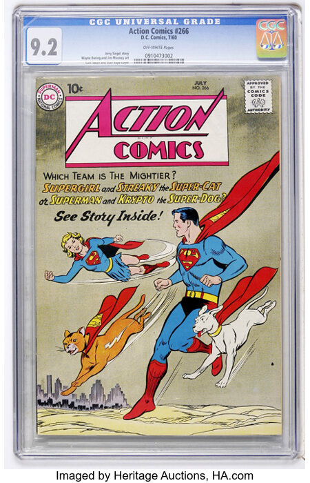 Action Comics #266 (DC, 1960) CGC NM- 9.2 Off-white pages....