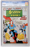 Silver Age (1956-1969):Superhero, Action Comics #255 (DC, 1959) CGC VF/NM 9.0 Off-white to white pages....