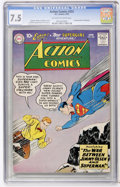 Silver Age (1956-1969):Superhero, Action Comics #253 (DC, 1959) CGC VF- 7.5 Off-white to white pages....