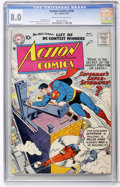 Silver Age (1956-1969):Superhero, Action Comics #228 (DC, 1957) CGC VF 8.0 Cream to off-white pages....