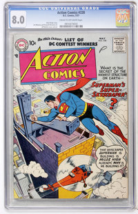 Action Comics #228 (DC, 1957) CGC VF 8.0 Cream to off-white pages