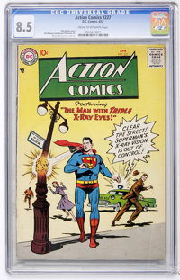 Action Comics #227 (DC, 1957) CGC VF+ 8.5 Cream to off-white pages
