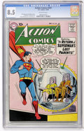 Silver Age (1956-1969):Superhero, Action Comics #247 (DC, 1958) CGC VF+ 8.5 Off-white pages....