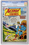 Golden Age (1938-1955):Superhero, Action Comics #244 (DC, 1958) CGC VF+ 8.5 Off-white to white pages....