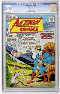 Action Comics #244 (DC, 1958) CGC VF+ 8.5 Off-white to white pages