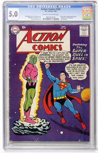 Action Comics #242 (DC, 1958) CGC VG/FN 5.0 Cream to off-white pages