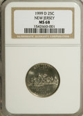 Statehood Quarters: , 1999-D 25C New Jersey MS68 NGC. NGC Census: (18/0). PCGS Population(1/0). Numismedia Wsl. Price for NGC/PCGS coin in MS68...