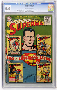 Superman #100 (DC, 1955) CGC VG/FN 5.0 Off-white to white pages