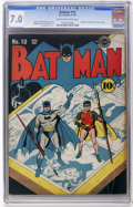 Golden Age (1938-1955):Superhero, Batman #10 (DC, 1942) CGC FN/VF 7.0 Cream to off-white pages....