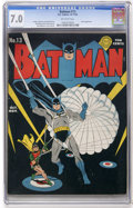 Golden Age (1938-1955):Superhero, Batman #13 (DC, 1942) CGC FN/VF 7.0 Off-white pages....