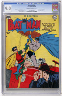 Batman #60 (DC, 1950) CGC VF/NM 9.0 Off-white to white pages