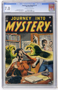 Golden Age (1938-1955):Horror, Journey Into Mystery #1 (Atlas, 1952) CGC FN/VF 7.0 Off-white towhite pages....