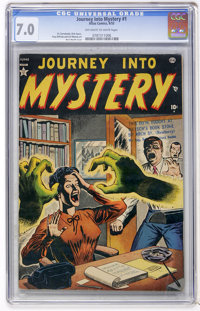 Journey Into Mystery #1 (Atlas, 1952) CGC FN/VF 7.0 Off-white to white pages