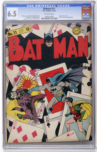 Batman #11 (DC, 1942) CGC FN+ 6.5 Off-white pages