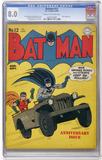 Batman #12 (DC, 1942) CGC VF 8.0 Cream to off-white pages