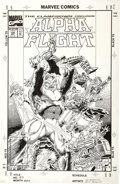 Original Comic Art:Covers, Pat Broderick and Bruce Patterson - Alpha Flight #120 CoverOriginal Art (Marvel, 1993)....