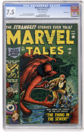 Golden Age (1938-1955):Horror, Marvel Tales #107 Double Cover (Atlas, 152) CGC VF- 7.5 Off-whitepages....