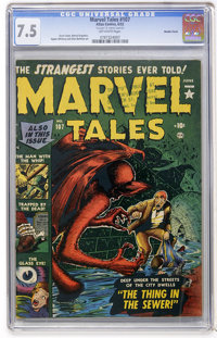 Marvel Tales #107 Double Cover (Atlas, 152) CGC VF- 7.5 Off-white pages
