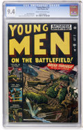 Silver Age (1956-1969):War, Young Men #13 (Atlas, 1952) CGC NM 9.4 Cream to off-white pages....