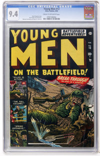 Young Men #13 (Atlas, 1952) CGC NM 9.4 Cream to off-white pages