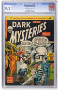 Golden Age (1938-1955):Horror, Dark Mysteries #18 (Master Publications, 1954) CGC NM- 9.2 Cream tooff-white pages....