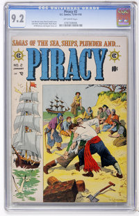 Piracy #2 (EC, 1955) CGC NM- 9.2 Off-white pages