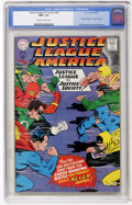 Silver Age (1956-1969):Superhero, Justice League of America #56 (DC, 1967) CGC NM+ 9.6 Off-white to white pages....