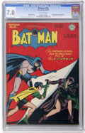 Golden Age (1938-1955):Superhero, Batman #42 (DC, 1947) CGC FN/VF 7.0 Off-white pages....