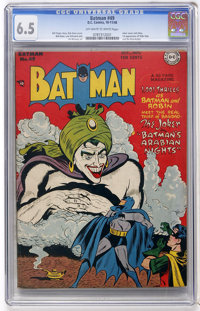 Batman #49 (DC, 1948) CGC FN+ 6.5 Off-white to white pages