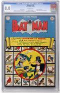 Golden Age (1938-1955):Superhero, Batman #58 (DC, 1950) CGC VF 8.0 Off-white pages....